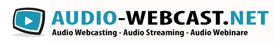 Audio Webcast produziert und betreut von NetMediaCast